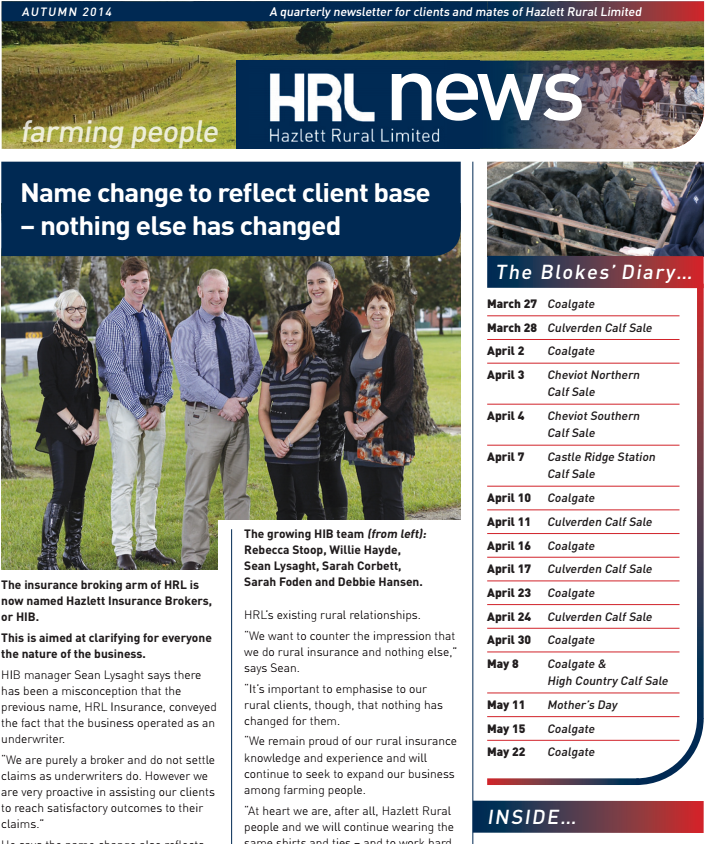 HRL Newsletter Autumn 2014