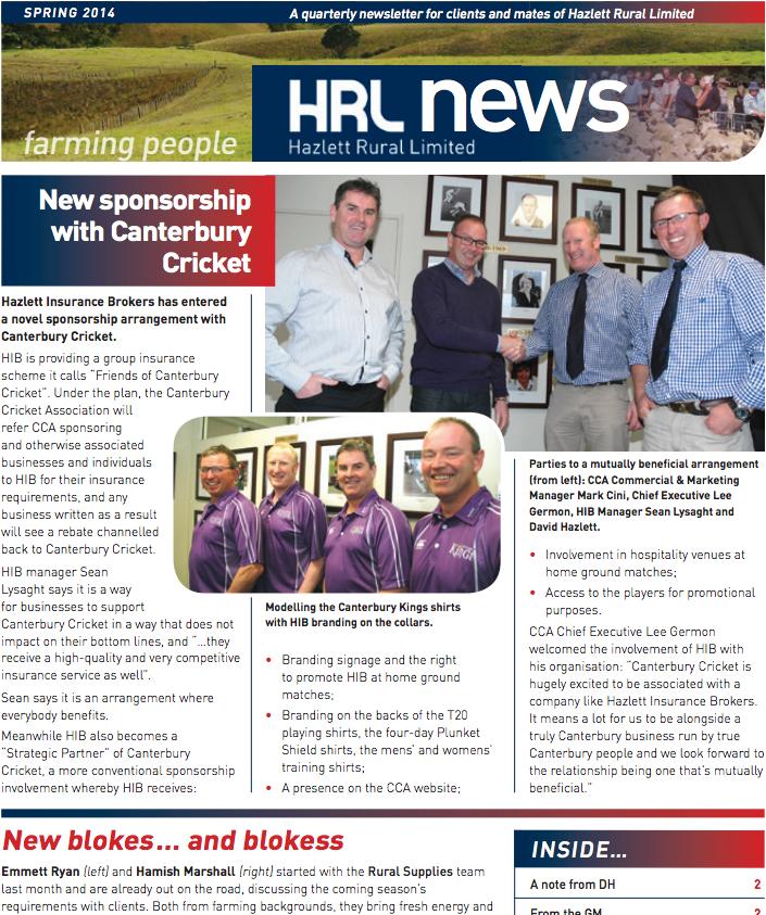 HRL Newsletter Spring 2014