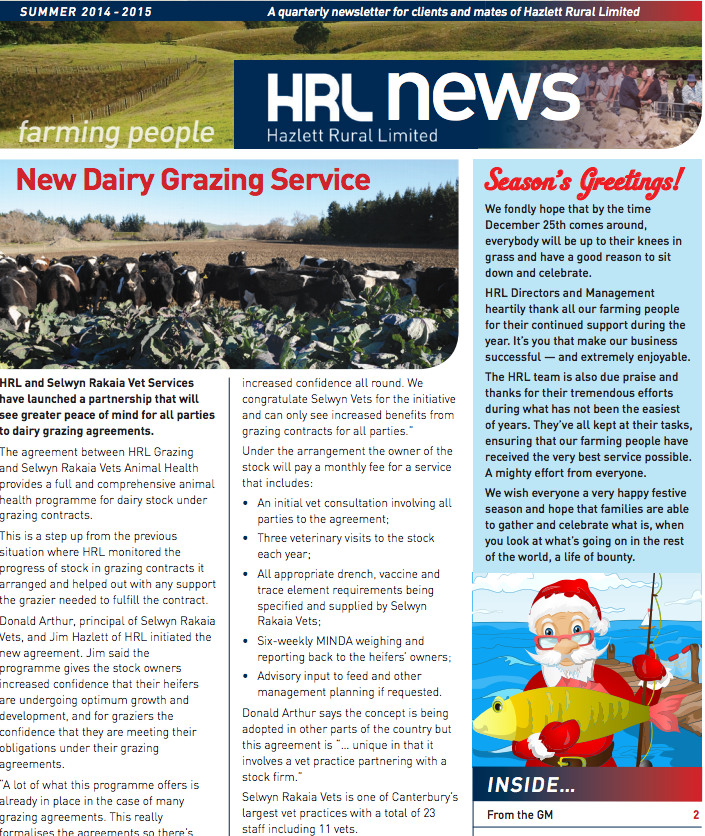 HRL Newsletter Summer 2014