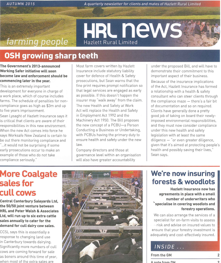 HRL Newsletter Autumn 2015