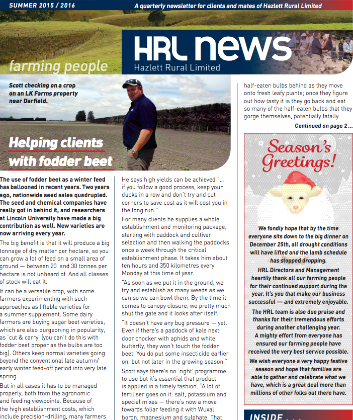 HRL Newsletter Summer 2015