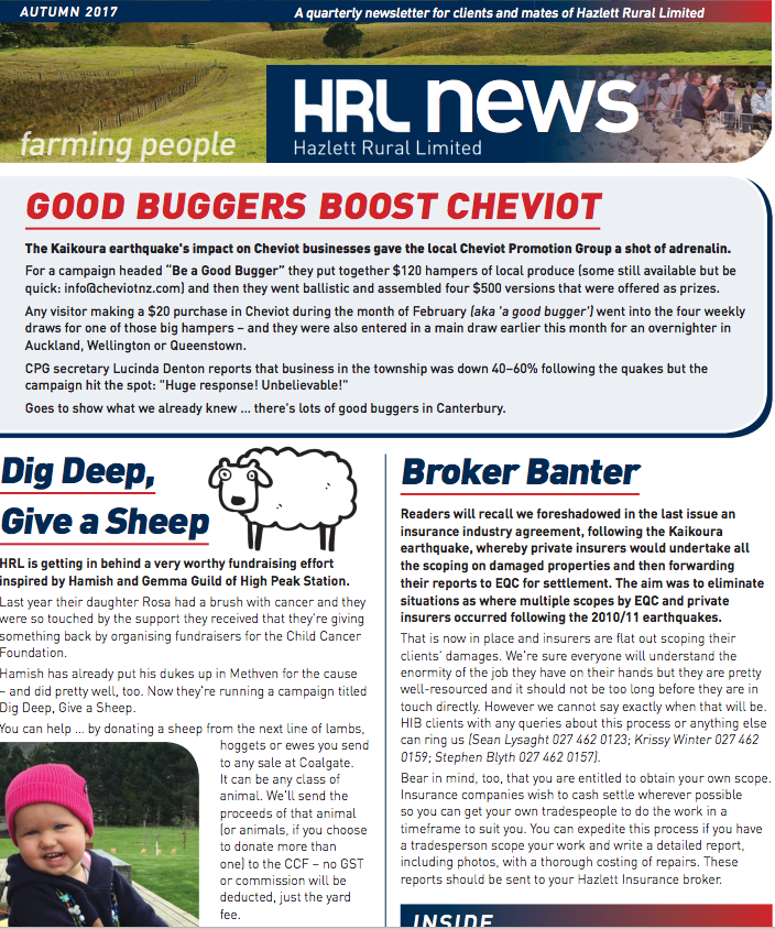 HRL Newsletter Autumn 2017