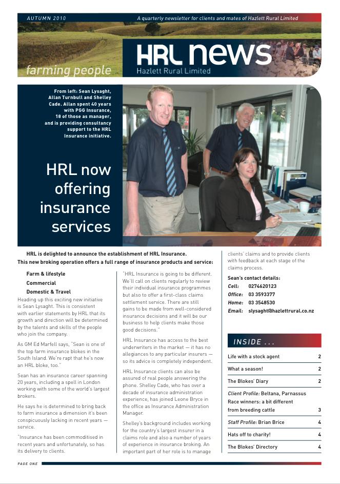HRL Newsletter Autumn 2010