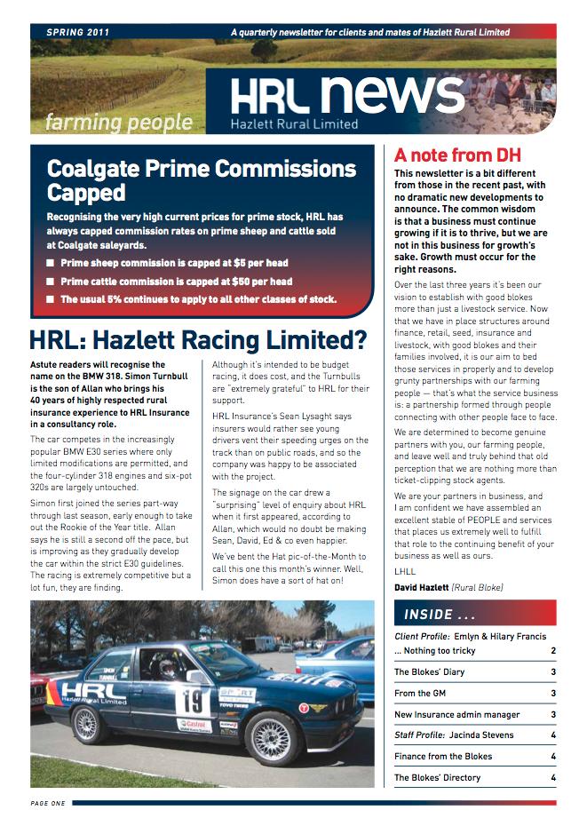 HRL Newsletter Spring 2011