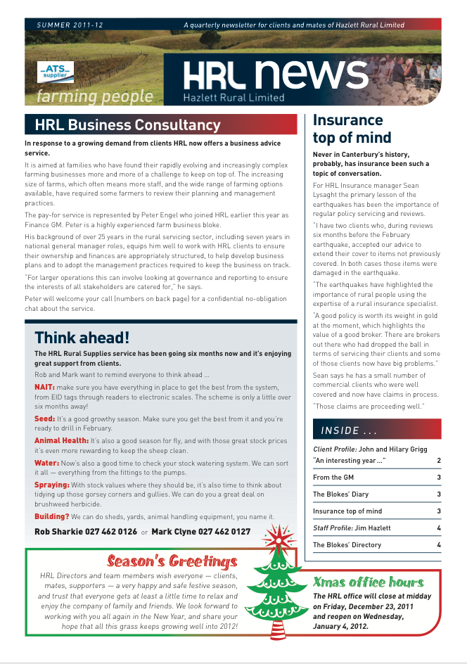 HRL Newsletter Summer 2011