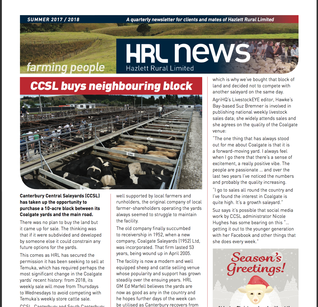 HRL Newsletter Summer 2017