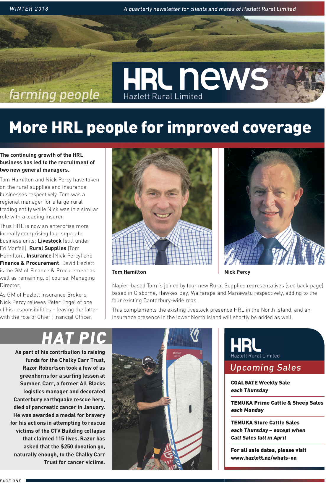 HRL Newsletter Winter 2018