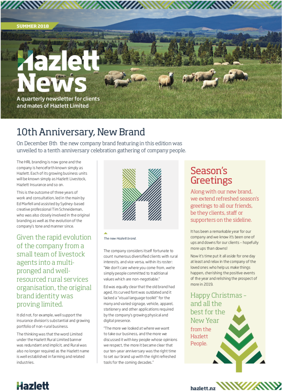 HRL Newsletter Summer 2018
