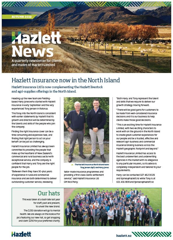 Hazlett Newsletter Autumn 2019