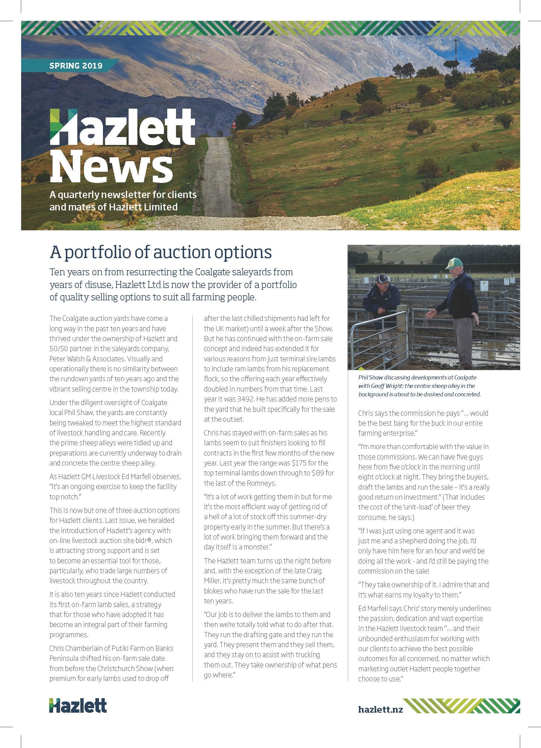 Hazlett Newsletter Spring 2019