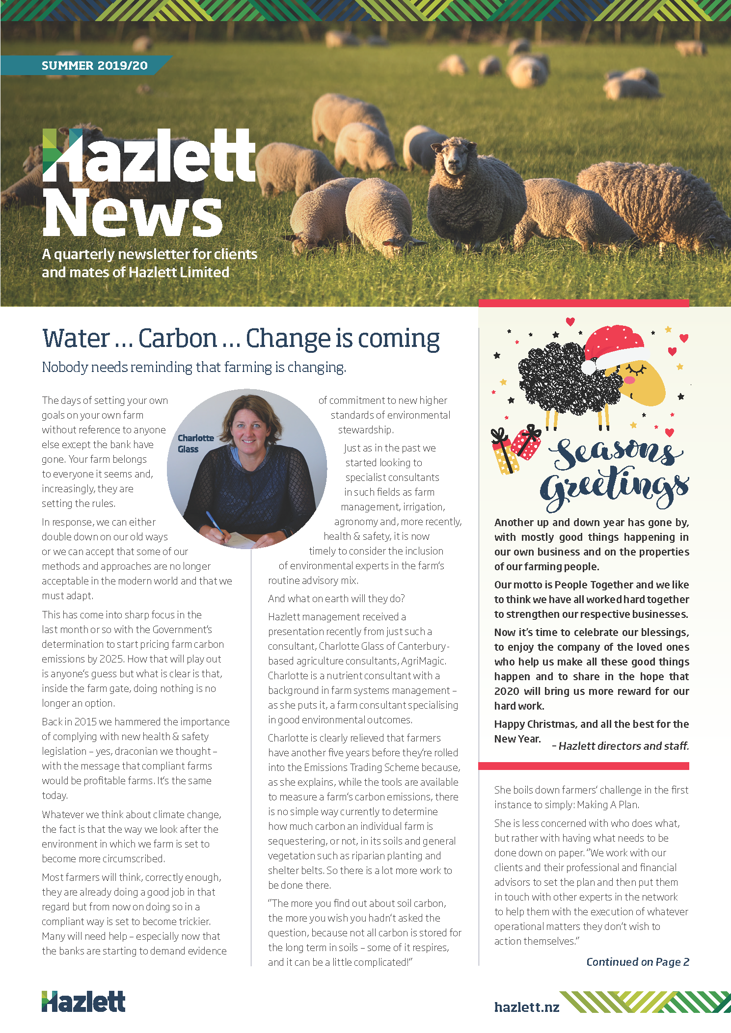 Hazlett Newsletter Summer 2019