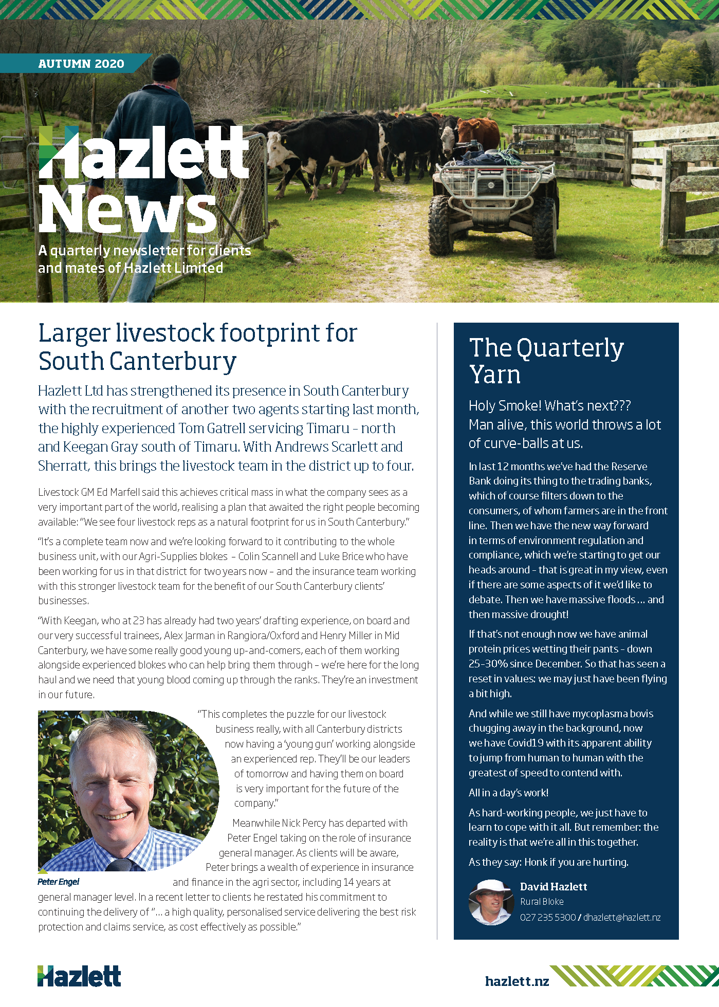 Hazlett Newsletter Autumn 2020