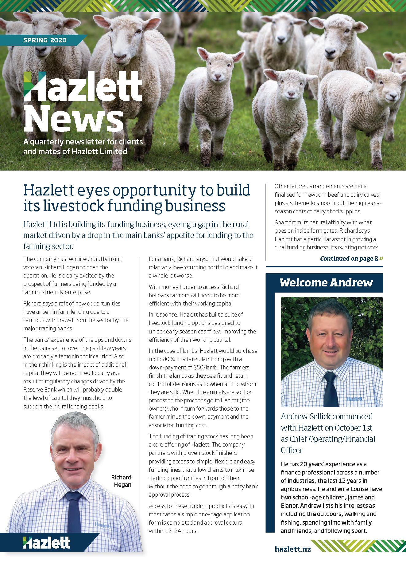 Hazlett Newsletter Spring 2020