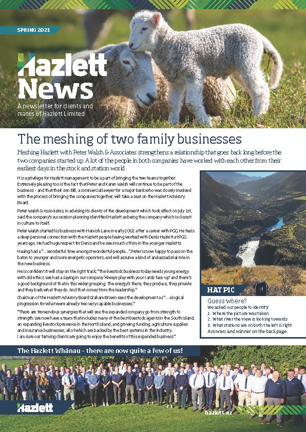 Hazlett Newsletter Spring 2021